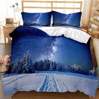 Print Star Sky Milky Way Universe Comforter Bedding Set Queen Twin Single Size Duvet Cover Pillowcase Home Textile Luxury Sets