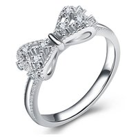 Butterfly Luxury Bling Zircon Ring Silver Color Hip Hop Rings for Women Fashion Wedding Engagement Jewelry