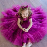 Girl's Dresses Infant Bow Kids For Girls 1 Years Birthday Party Wedding Children Princess Dress Toddler Baby Lace Gown Tutu Costume