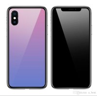 Gradueller bunte Farbverlauf-Änderung des Telefongehäuses Stoßfest Hartrückseite Cober Neuer Fallabdeckung für iPhone x