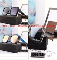 0083 2021 Luxus Designer Sommer Stil Temperament Frauen Sonnenbrille Super Light UV-Schutz Fahion Mischfarbe Kommen Sie mit Kasten