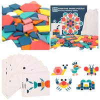 Kids Wooden 3D Jigsaw Puzzle Clever Board toy Baby Montessori Educational Learning Toys for Children Geometric Shape Puzzles