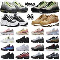 air max 95 chaussures de course 95s Neon Worldwide Yin Yang Pack hommes formateurs femmes baskets de sport de mode en plein air Walking Jogging