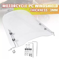 Motorcycle Windshield 3mm Thick Wind Cold Deflector Clear Transparent PC Plate Scooter Windscreen