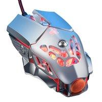 أزياء مكتب لعبة ماوس v9 السلكية ميكانيكي الإضاءة الخلفية الألعاب 6 زر البرمجة الماكرو الفئران