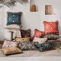 クッション/装飾的な枕のクリスマスクッションカバー装飾的なケースのエキゾチックな単純なボヘミアポリ綿のモロッケカラフルなソファーチェアの寝具
