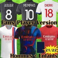 20 21 Maillot Lyon 2020 2021 Olympique Lyonnais Soccer Jersey Maillot de foot OL maglie da calcio TRAORE MEMPHIS uomo kit per bambini attrezzature