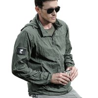 Designer Winter Lightweight Waterproof Tactical Jacket Men Summer Breathable Thin Hoody Raincoat Military Portable Windbreaker A
