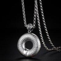 Anhänger Halsketten 990 Sterling Silber Runde Halskette Buddhismus Große Mitleid Buddhistische Schriften Prajna Paramita Amulett