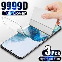 Cell Phone Screen Protectors 3 pçs filme de hidrogel na tela protetor para samsung galaxy s10 s20 s9 s8 mais s7 s6 borda nota 20 8 9 10