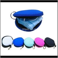 Bags Storage Housekeeping Organization Home & Gardenrts Plain Color For Sublimation Waterproof Earbud Case Bag Neoprene Zipped Coin Purse Fa