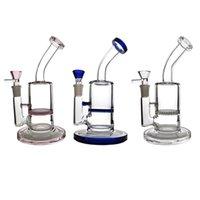 7-Zoll-Mini-kleine Wasserhaare 5mm dickes Öl DAB-Rigs-Waben-PERC-Rosa-Blau-klare Glasbongs 14mm Gelenkwasserleitungen Bleibeschüssel