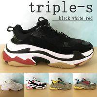 2021 Top Paris Triple-S Plateforme Hommes Casual Chaussures Triple Noir Blanc Crème Rouge Jaune Beige Vert Gym Bleu Mode Mens Sneakers