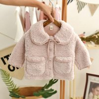 Down Coat Fashion Cute Baby Girls Autumn winter Fur Jacket Thick Lamb Wool Infant Toddler Children Warm Clothing Cotton Outwear