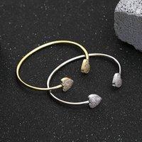 Brazalete coreano dulce amor apertura moda versátil diamante incrustaciones de la joyería de la pulsera de las mujeres