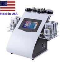 Zapasy Ultradźwiękowe Cavitation Maszyna Odchudzająca 6in1 Lipo Laserowa Próżnia Radio Częstotliwość RF Salon Dioda Spa Lipolaser 8 Podkładki Płonące sprzęt tłuszczowy