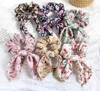 Spirituierte Haarbänder Kaninchenohr Haarbänder Blumenstirnbänder Retro Bohemische Pferdeschwanzhaare Seil Hairband HWC7048