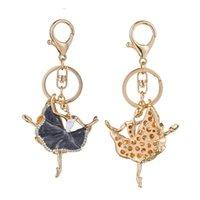 Moda dans bale kız anahtarlık balerin kolye kadınlar takı rhinestone anahtarlık çanta araba anahtarlık dansçı hediye anahtarlıklar