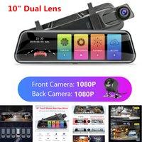 10 pouces de voiture DVR Vue arrière Enregistreurs de miroir Dash Cam Full HD 1080P Écran tactile