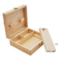 Wooden Stash Boxes Smoke tool set Cigarette Tray Natural Handmade Wood Tobacco And Herbal Storage Box For Smoking Pipe AHB7096