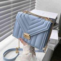 Handbag Shoulder_bag Branded crossbody Designer Tote Bag Luxurys Bags Fashion Strip Chain Shoulder Task for Women 2021 Sac A Main Messeng