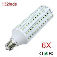 Birnen 6 stücke Super Power 40W E27 LED Wandlampen 5730 SMD Mais Birne Kronleuchter 132 LEDs Deckenleuchte AC 220V 240V Pendelleuchten