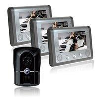 Con la función de la visión nocturna de infrarrojos y el cable de bloqueo abierto del equipo de la entrada del equipo del sistema de la puerta del video de la puerta del video