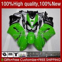 OEM Bodywork para Kawasaki Ninja ER 6 F 2006-2008 ER6 F 650 R 650R 06-08 Cuerpo 6NO.4 650R-ER6F ER-6F ER 6F 2006 2007 2008 650-R ER6F 06 07 08 Feriaturas de motocicleta Factory Green