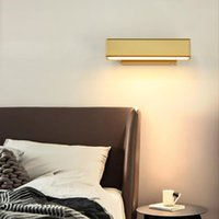 Wall Lamps Nordic Luxury Living Room Aisle Lamp Modern Minimalist Creative Rotating Bedside Light Gold LED Iron Study Sconce