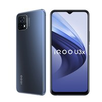 Original vivo IQOO U3X 5G Mobiltelefon 6 GB RAM 64GB ROM Snapdragon 480 Octa Core Android 6,58 Zoll Vollbild 13.0mp 5000mAh Fingerabdruck-ID Gesichts-Weck-Smart-Handy