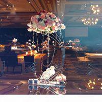 """Золотой цветочный стенд 82см 32,3 """"высокая металлическая дорога ведущий свадебный центральный центр цветы стойка для мероприятия вечеринка дома украшения"""