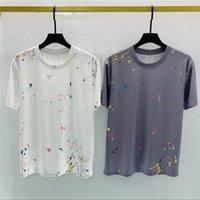 2021 Tee Brand Design Camicia Summer Street Wear Europe Moda Uomini di alta qualità Tshirt in cotone Casual Casual Manica corta # 6513 M-XXL T-shirt