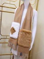 Зимние шарфы для мужчин женские шарфы шаль теплый анти холодный стильный карманный дизайн высококачественные горячие вершины размером 190 * 46 см 2 цвета опционально