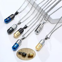 Chains Hollow Necklace For Men Women,Cross Engraved,Cremation Urn Pendant,Perfume Holder,Ashes Vial Keepsake Memorial Jewelry