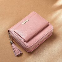 Fashion Selling Classic channe wallets Women Top Quality Sheepskin Luxurys Designer bag Gold and Silver Buckle Coin Purse Card Holder With box.118