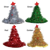 Christmas Decorations Glowing Tree Cap Women Men Costume Santa Hat Party Ornaments For Kid Adult Year Gifts