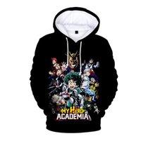 Erkek Tasarımcı T Shirt Kahramanım Academia 3D Baskı Kadınlar / Erkekler Hoodies Tişörtü Izuku Midoriya Hepsi Shouto Todoroki Deku Himiko Toga Cosplay Ceket