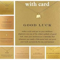 Avec carte! Très mignon! Collier dogear argent et or doré avec un pendentif différent, éléphant / os / karma / aile ange 60 pcs