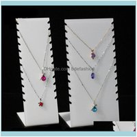 Jewelry Packaging & Jewelryjewelry 8-12 Necklace Pendant Acrylic Display Storage Rack Jewlery Organizer Pouches, Bags Drop Delivery 2021 Qt1