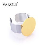 VAROLE Fashion Simple Circular Stainless Steel Men Ring Gold Silver Color Trendy Style Designer Rings for Women Jewelry anel