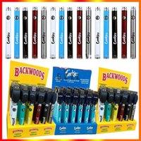 Biscotti Backwoods Law Twist Preheat VV Batteria 900mAh Tensione di fondo Caricabatterie USB regolabile Pen 30pcs con scatola di visualizzazione