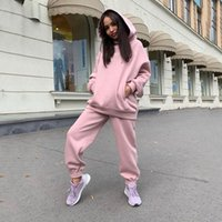 shaping Body Solid color Casual Tracksuits Womens Streetwear long sleeve Top Loose Sport Pants Sportswear Female Oversized Hoodie Setsoccer jersey