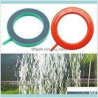 Украшения Aquariums Pet Socious Home Gardenpt Products Aquarium Fish Round Tank Ring Air Coney Насос Пузырь Диска Кислородная тарелка SIL Carbi