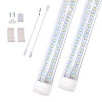 Magasin de lumière de 8 pieds de LED, tube intégré à 8 pieds T8, ampoules liées à garage, entrepôt, forme V, lentille transparente (25 pack)