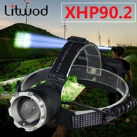 XHP90.2 Most Powerful Led Headlamp Built Cooling Fun Headlight Lamp Head Comping Torch Zoom 18650 Rchargeable Battery