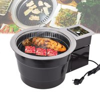 Commercial Carbon Barbecue Grill Korean BBQ Machine Smokeless Charcoal Grill Oven Stainless Steel Roasting Pan