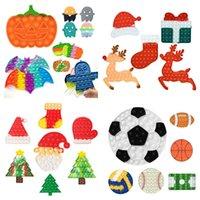 Хэллоуин тыква push vidget игрушки рождественские оленя подарочная коробка сенсорный пузырь палец игрушка аутизм специальные нужды беспокойство стресс recever 2022 dhl