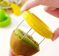 Mini fruta Kiwi Cutter Peeler Slicer Cozinha Gadgets Ferramentas Peeling para Pitaya Green