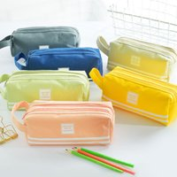 Large Capacity Cute Pencil Case Bags Stationery Storage Bag Oxford Cloth Pen cases Kawaii Gift Office Students Kids School Supplies Advertising Promotional Gifts