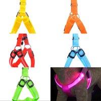 USB Rechargerable Harnais de chien de compagnie LED Courreuse lumineuse Harnais de chien lumineux pour chiens de grande taille 427 v2